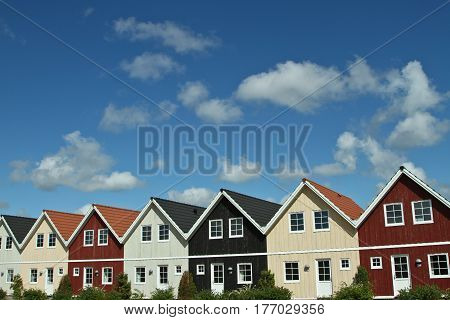 Houses In A Village In Denmark
