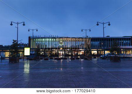Gare d'Arras - railway station at evening. Arras Nord-Pas-de-Calais-Picardy France.