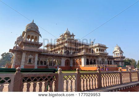 Albert Hall Jaipur. It Is Located In Ram Niwas Garden In Jaipur