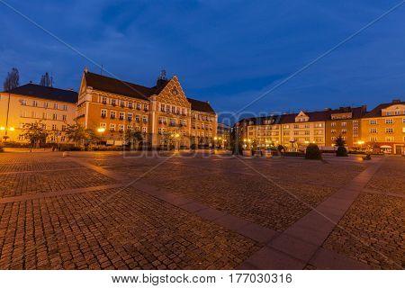 Town Hall on Main Square in Cesky Tesin. Cesky Tesin Moravian-Silesian Region Czech Republic.