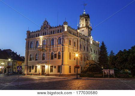City Hall on Market Square in Jaroslaw. Jaroslaw Podkarpackie Poland.