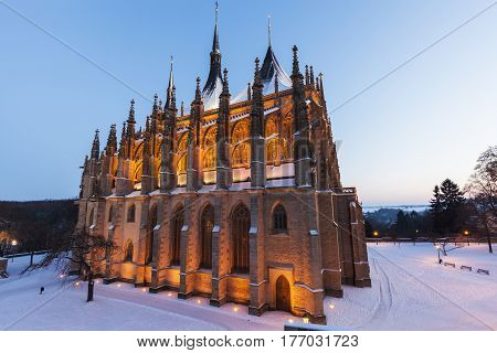 St. Barbara's Church in Kutna Hora. Kutna Hora Central Bohemian Region Czech Republic.