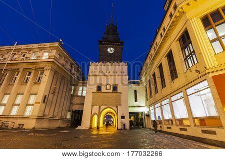 Green Tower in Pardubice. Pardubice Bohemia Czech Republic.