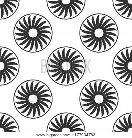 Ventilation sign icon. Ventilator symbol icon seamless pattern on white background. Vector Illustration
