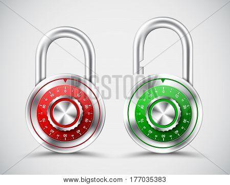Chromed Round Padlocks, Mechanical Code Lock.