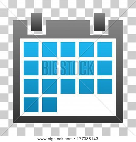 Calendar icon. Vector illustration style is flat iconic symbol with gradients, transparent background. Designed for web and software interfaces.