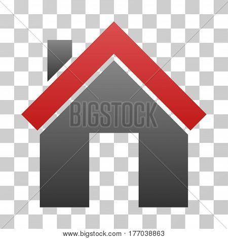 Home icon. Vector illustration style is flat iconic symbol with gradients, transparent background. Designed for web and software interfaces.