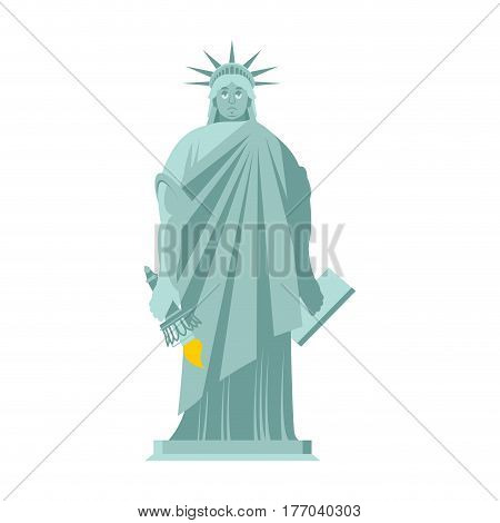 Statue Of Liberty Sad. Sorrowful Landmark  America. Sculpture Architecture Usa