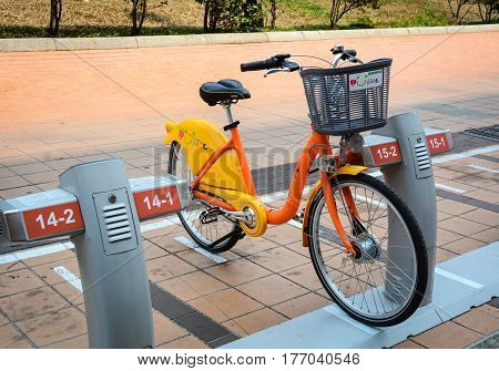 Auto Bicycle Rental Service In Taichung, Taiwan