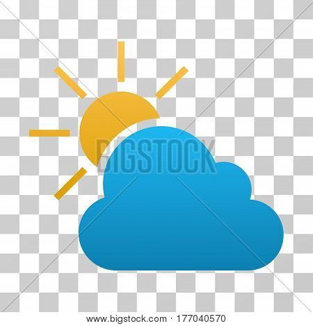 Weather icon. Vector illustration style is flat iconic symbol with gradients, transparent background. Designed for web and software interfaces.