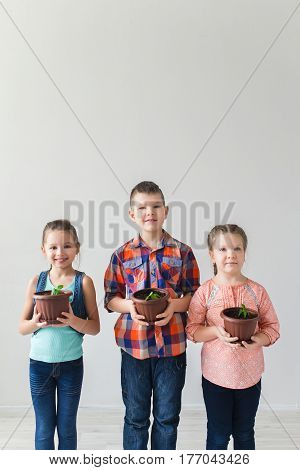 Earth day and ecology and children concept.