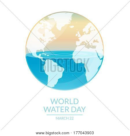 Image of world water day campaign. Vector illustration.