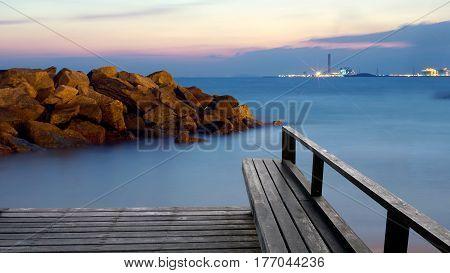 Rest on the calm tropical beach and coast