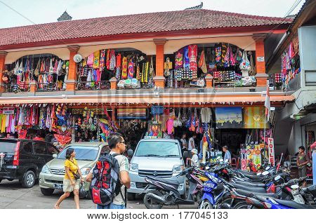 Ubud,Bali,Indonesia-May 29,2010:View of Sukawati Art Market in Bali,Indonesia on 29th May 2010.It is one of Bali's most established & well-known market,the perfect place for visitors to find distinctively Balinese artworks & handicrafts
