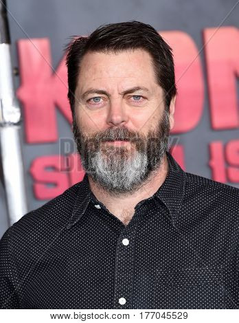 LOS ANGELES - MAR 08:  Nick Offerman arrives for the