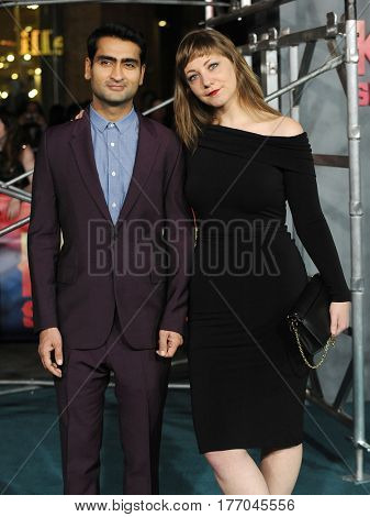 LOS ANGELES - MAR 08:  Kumail Nanjiani and Emily Gordon arrives for the