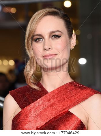 LOS ANGELES - MAR 08:  Brie Larson arrives for the