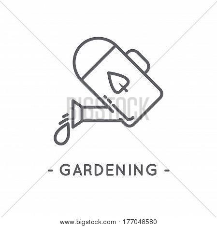 Line Black Gardening Icon On White Background