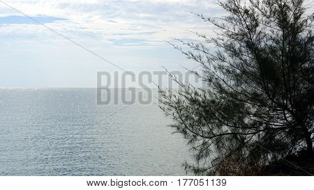 The calm tropical beach at Rayong, the east of Thailand