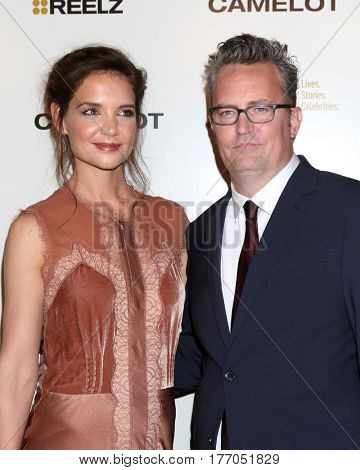 LOS ANGELES - MAR 15:  Katie Holmes, Matthew Perry at the