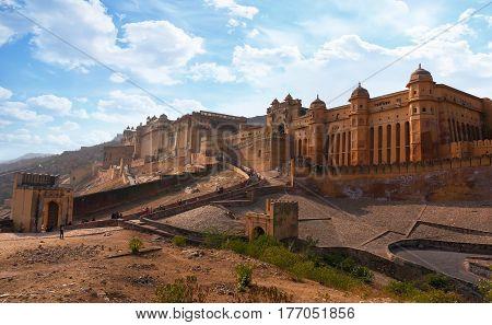 Beautifoul Amber Fort Near Jaipur City In India.