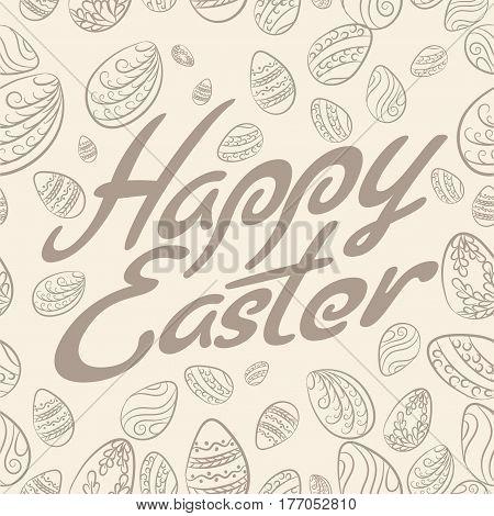 Easter Lettering Pattern Pastel