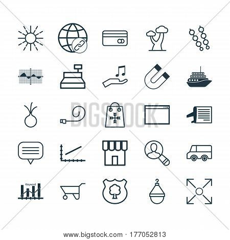 Set Of 25 Universal Editable Icons. Can Be Used For Web, Mobile And App Design. Includes Elements Such As Lightness Mode, Hanger, Garlic And More.