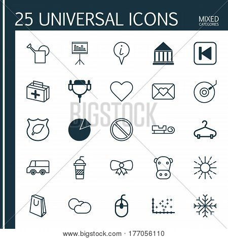 Set Of 25 Universal Editable Icons. Can Be Used For Web, Mobile And App Design. Includes Elements Such As Obstacle, Pie Chart, Lorry And More.