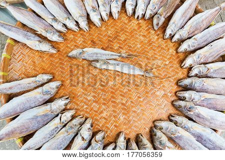 fishes put down to dry in Tai O Lantau Island Hongkong poster