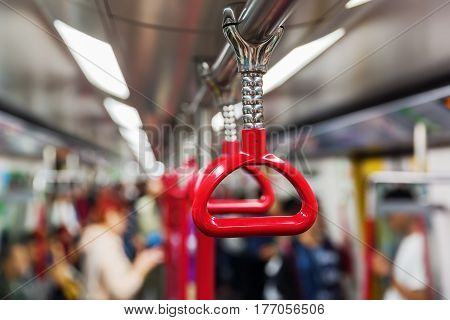 Support Strap In An Underground Train