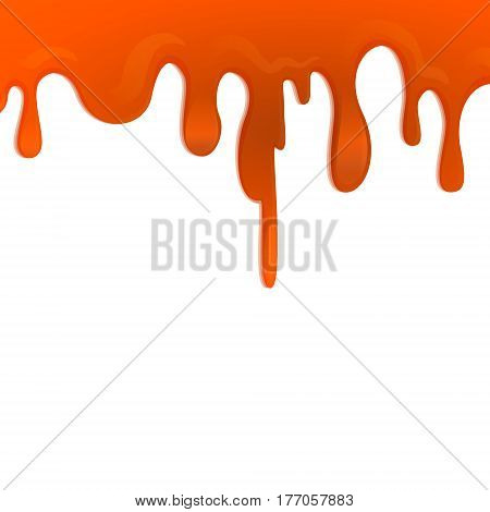 cherry berry raspberry syrup drips splash isolated creative modern art illustration white background vector design element