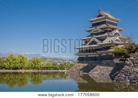Japan castle Matsumoto Castle One of Japan's premier historic castles