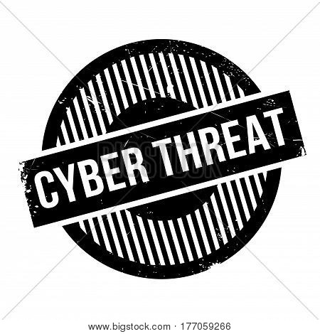 Cyber Threat rubber stamp. Grunge design with dust scratches. Effects can be easily removed for a clean, crisp look. Color is easily changed.
