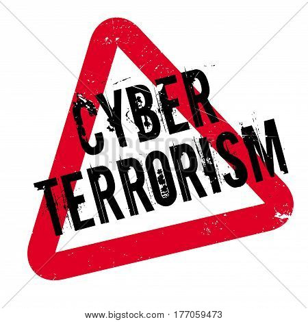 Cyber Terrorism rubber stamp. Grunge design with dust scratches. Effects can be easily removed for a clean, crisp look. Color is easily changed.