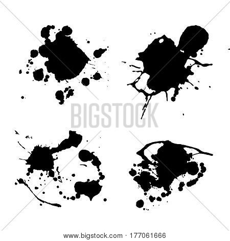 Paint splat set.Paint splashes set for design use