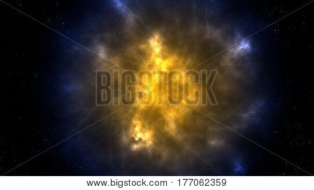 Space Scene Background with Colorful Gas Clouds Nebula Galaxy