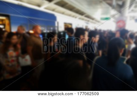 Blurred Photo, Blurry Image, .people At Station Electric Train Background