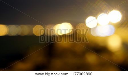 Out of focus lighting or bokeh, abstract background.