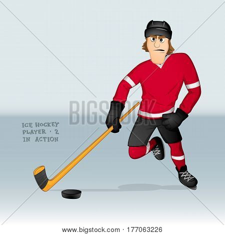 Ice Hockey Player Attacking