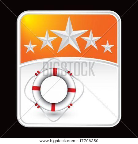 life ring on orange star banner