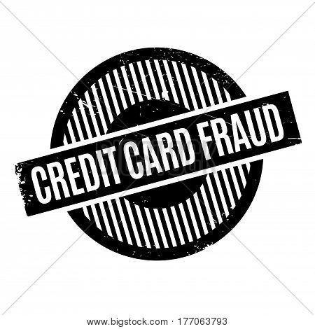 Credit Card Fraud rubber stamp. Grunge design with dust scratches. Effects can be easily removed for a clean, crisp look. Color is easily changed.