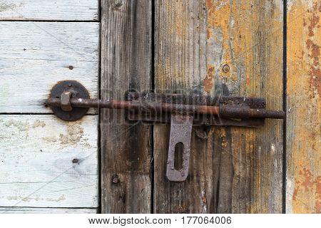 Old Wooden Door With Shutter. Set Of Backgrounds