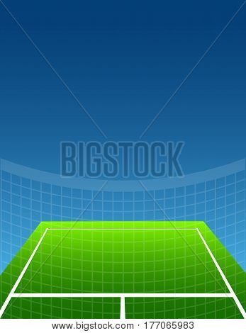 blue and green abstract tennis background. vector