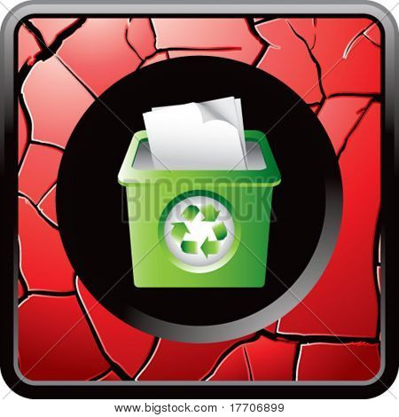 recycle bin on cracked red web button