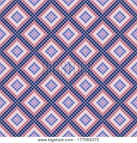 Seamless Vector Decorative Geometric Pattern. Ethnic Endless Background With Ornamental Decorative E