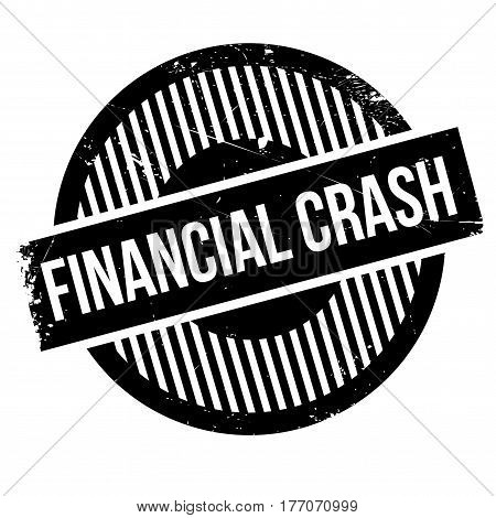 Financial Crash rubber stamp. Grunge design with dust scratches. Effects can be easily removed for a clean, crisp look. Color is easily changed.