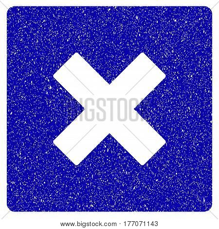Grunge Close rubber seal stamp watermark. Icon symbol with grunge design and dust texture. Unclean vector blue sticker.