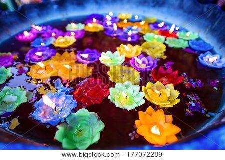 Flower Candle Light Floating