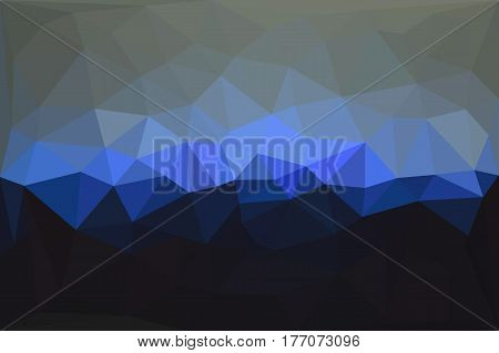 Abstract triangles 3d background. Low poly graphic design element. Business card backdrop, brochure cover, wall paper. Monochrome geometric decoration. Vector illustration