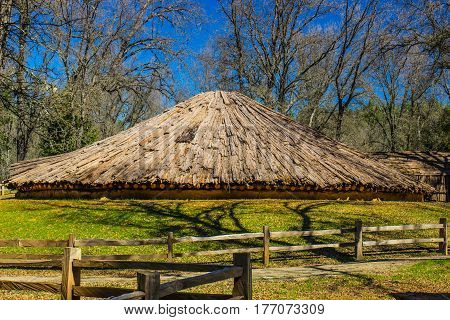 Large Conical Shaped American Indian Round House